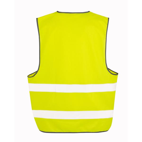 Hi-vis Vest yellow back