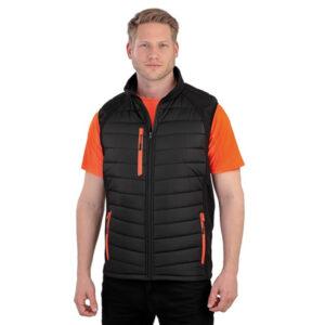 Workwear gilet blk / orange