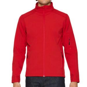 Gildan Softshell jacket red